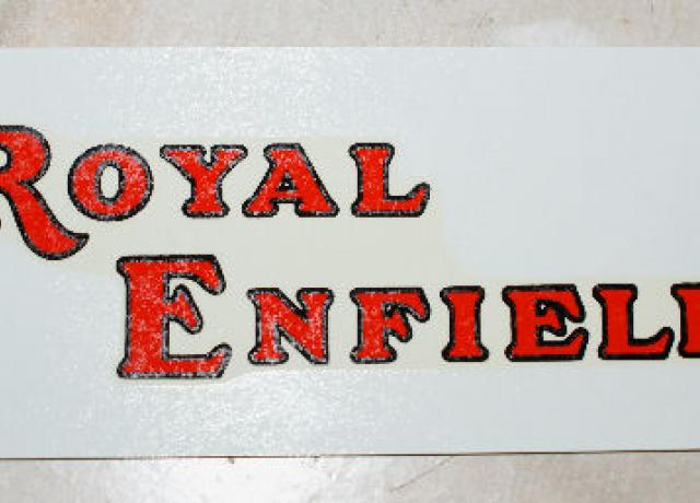Royal Enfield Transfer for Tank 1939 on