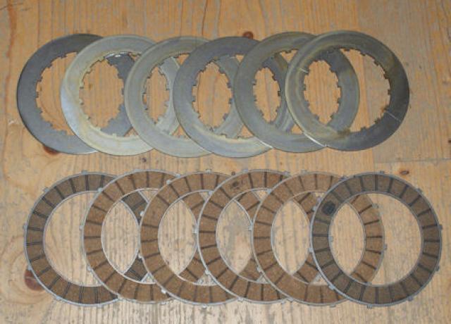 BSA Clutch Plates Steel/Surflex for late Models /Set