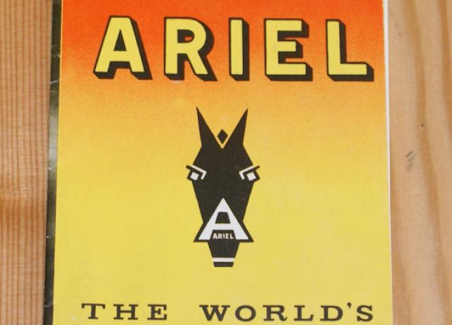Ariel 1961 the world´s finest motor cycles, Brochure