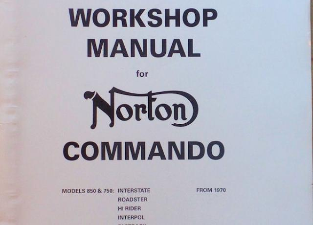 Norton Commando 750 & 850cc Workshop Manual 1970-74