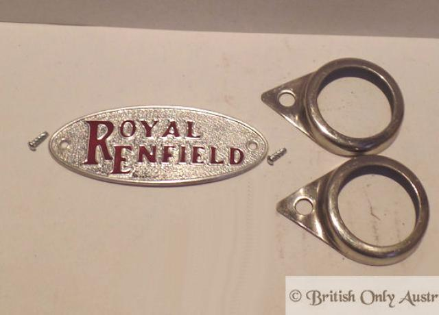 Royal Enfield Plakette / Schild /Set
